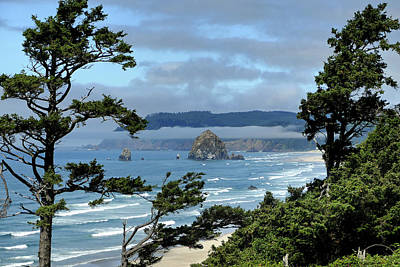Photograph - Haystack Rock Vista by Jeff Brunton