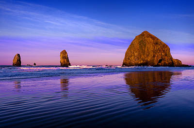 Oregon Photograph - Haystack Sunrise by Brian Bonham