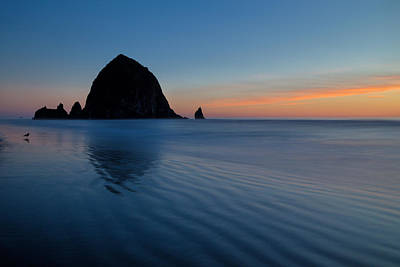 Photograph - Haystack Sunset Reflection by Mary Jo Allen