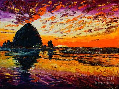 Painting - Haystacks At Sunset by Eryn Tehan