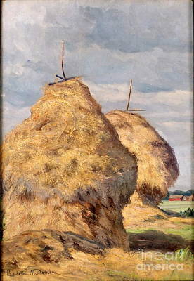 Haystacks Art Print by Celestial Images