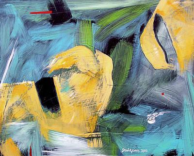 Painting - Haystacks by Dave Jones