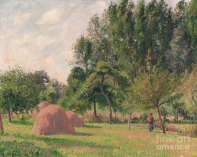 Haystacks, Morning, Eragny, 1899 Art Print by Camille Pissarro
