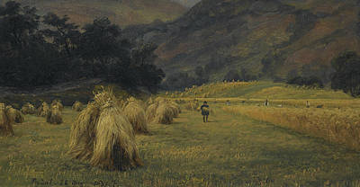 Painting - Haystacks, Rydal, Cumbria by Thomas Fearnley