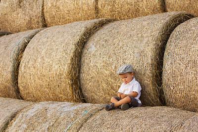 Canon Photograph - Haystacks by Tatyana Tomsickova