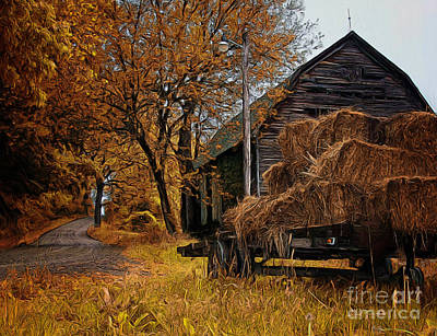Photograph - Haywagon by Tom Griffithe