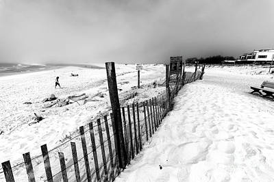 Photograph - Hazardous Conditions At Long Beach Island by John Rizzuto