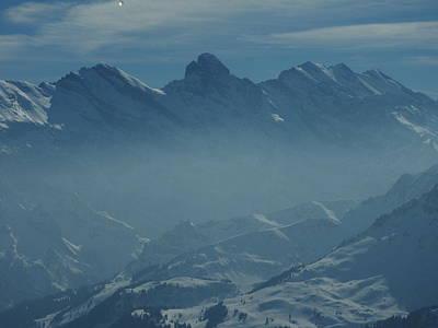 Haze In The Valley Art Print