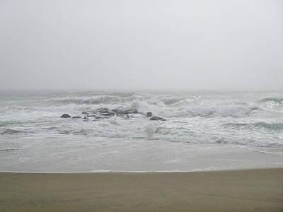 Photograph - Haze On The Sea by Ellen Paull
