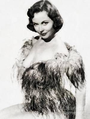 Hammer Painting - Hazel Court, Vintage Actress by John Springfield