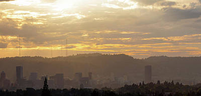 Photograph - Hazy Afternoon Over Portland Oregon Skyline by Jit Lim