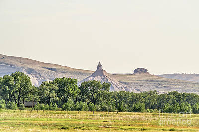 Photograph - Hazy Chimney Rock by Sue Smith