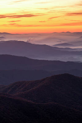 Photograph - Hazy Clingmans Dome Sunrise by Teri Virbickis