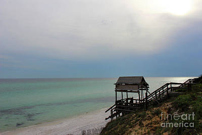 Photograph - Hazy Day At The Beach by Karen Adams
