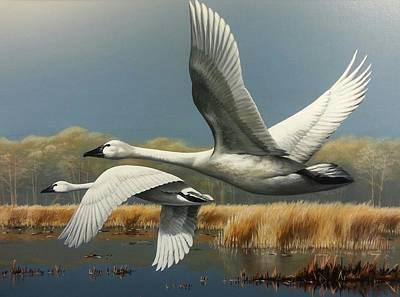Wall Art - Painting - Hazy Flight by Paul Makuchal