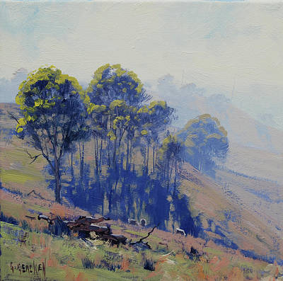 Paintings - Hazy light Landscape by Graham Gercken
