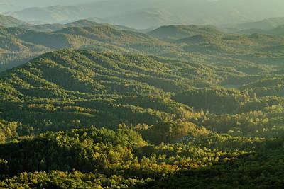 Photograph - Hazy Mountain Layers by Teri Virbickis