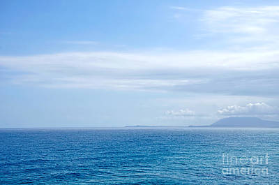 Hazy Ocean View Art Print by Kaye Menner