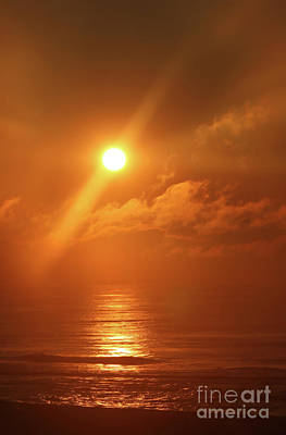 Photograph - Hazy Orange Sunrise On The Jersey Shore by Jeff Breiman