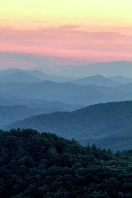 Photograph - Hazy Pastel Layers In The Smokies by Teri Virbickis