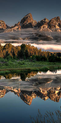 Photograph - Hazy Reflections Triptych Panel 2/3 by Ryan Smith