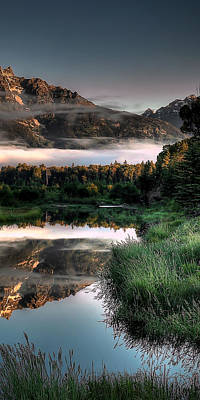 Photograph - Hazy Reflections Triptych Panel 3/3 by Ryan Smith