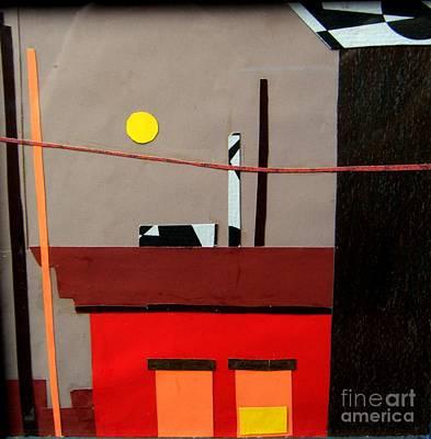Rooftop Mixed Media - Hazy Rooftops 2 by Debra Bretton Robinson
