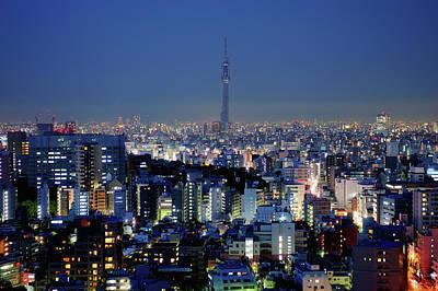 Hazy Skyline With Tokyo Sky Tree Art Print by Hidehiko Sakashita