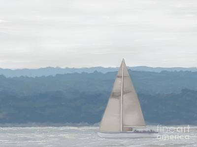 Painting - Hazy Sunday On The Sound by Roxy Riou