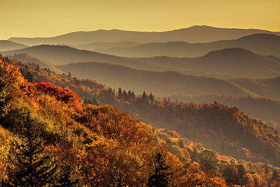 Photograph - Hazy Sunny Layers In The Smoky Mountains by Teri Virbickis