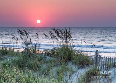 Photograph - Hazy Sunrise II by Gene Berkenbile