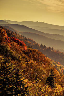 Photograph - Hazy Sunrise In The Smokies by Teri Virbickis