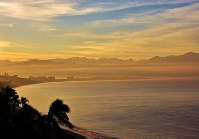 Nuevo Vallarta Photograph - Hazy Sunrise Over Bahia De Banderas by Stacie Gary