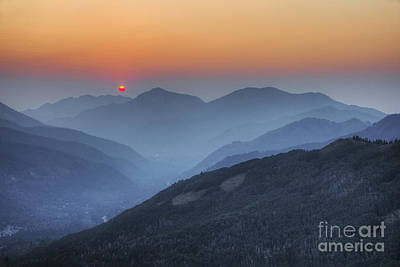 Photograph - Hazy Sunset From Scott Hill by Spencer Baugh