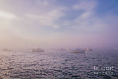 Photograph - Hazy Sunset In Bar Harbor Maine by Elizabeth Dow