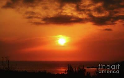 Hazy Sunset In Golden Bay Art Print by Stephan Grixti