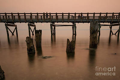 Photograph - Hazy Sunset On The Boardwalk by Paul Conrad