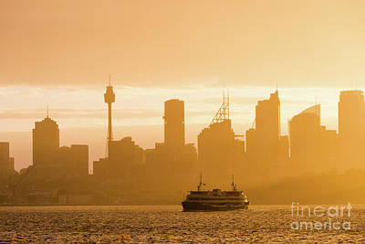 Photograph - Hazy Sunshine On Sydney Harbour by Andrew Michael