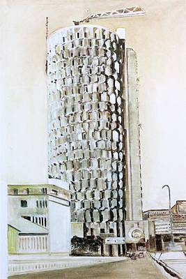 Painting - Hbl. Skyscraper. by Khalid Saeed