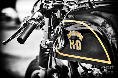 Hd Cafe Racer Art Print by Tim Gainey