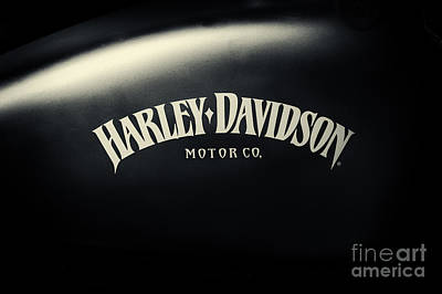 Hd Iron 883 Gas Tank Art Print