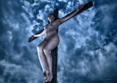 Female Christ Photograph - Hdr Asian Female Christ by Ramon Martinez