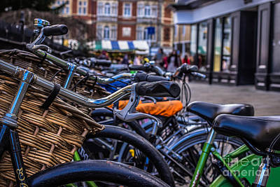 Photograph - Hdr Bikes by David Warrington