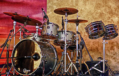 Photograph - Hdr Drum Set by Aimee L Maher Photography and Art Visit ALMGallerydotcom