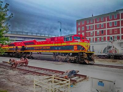 Photograph - Hdr Fun With Trains by Dustin Soph
