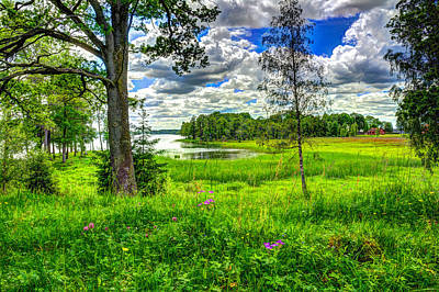 Sweden Digital Art - Hdr In Countryside by Tommytechno Sweden