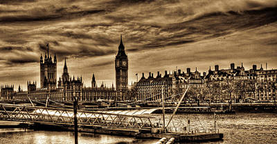Hdr Sepia Westminster Art Print