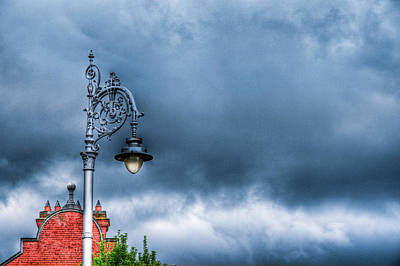Hdr Street Lamp Art Print by Andrea Barbieri