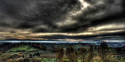 Hdr Tuscany Sunset Art Print