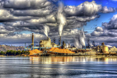 Photograph - Hdr - Westrock Plant Tacoma, Wa by Rob Green